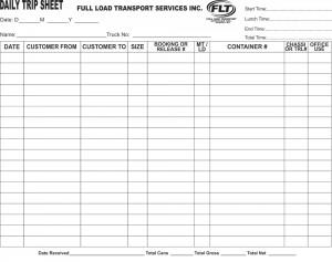 FLT-Trip-Sheets